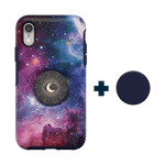 Otter + Pop Symmetry Series Case  Blue Nebula For  iPhone XR, PopSockets