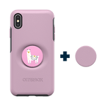 Otter + Pop Symmetry Series Case  Mauveolous For  iPhone XS Max, PopSockets