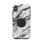 Otter + Pop Symmetry Series Case  White Marble For iPhone XS/X, PopSockets