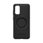 Samsung S20 Otter+Pop Symmetry Series Case Black, PopSockets