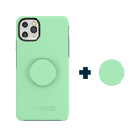 Otter + Pop Symmetry Series Case Mint To Be For iPhone 11 Pro Max, PopSockets