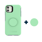 Otter + Pop Symmetry Series Case Mint To Be For iPhone 11, PopSockets