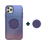 Otter + Pop Symmetry Series Case Violet Dusk For  iPhone 11 Pro Max, PopSockets
