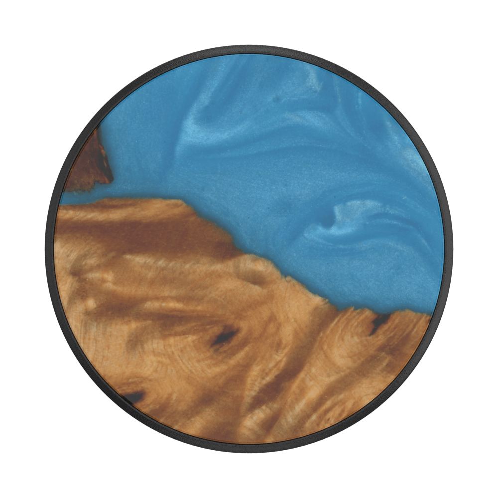 Wood Resin Tropical Blue, PopSockets