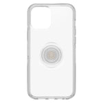iPhone 12 Pro Max Otter + Pop Symmetry Series Case Clear, PopSockets