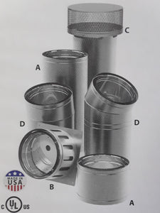 "DuraVent DuraChimney II All-Fuel Chimney System 14"" Diameter"