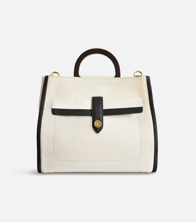 Dune satchel bag in organic cotton