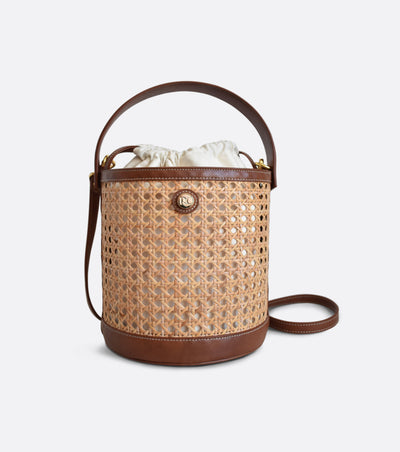Bali bucket bag in Vienna straw