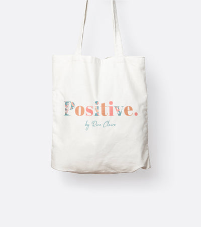 Positive Tote bag in eco cotton