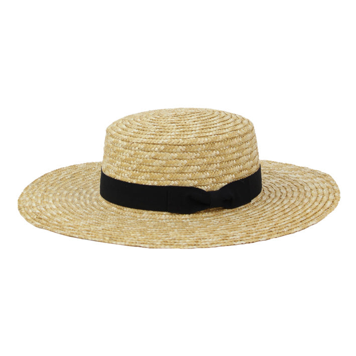 Jendi Aliza Boater Hat in Natural or Black