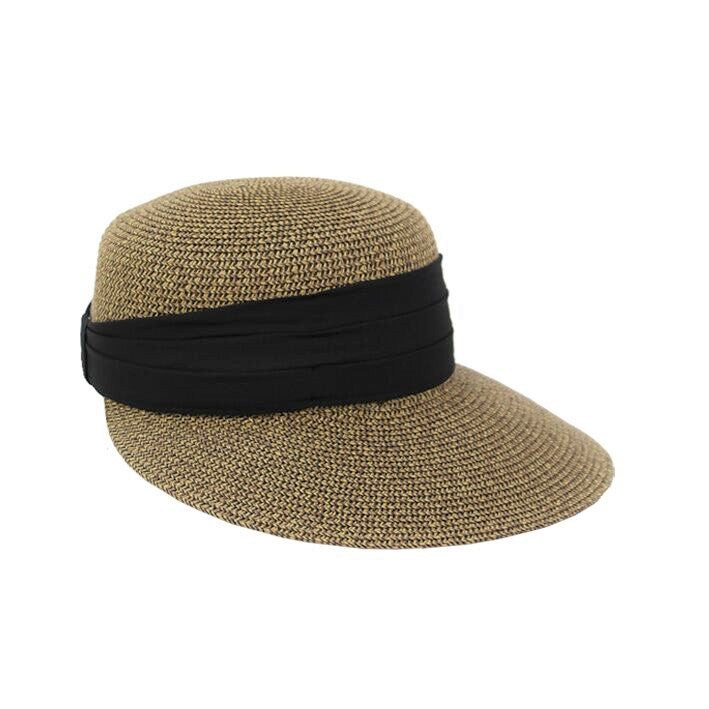Jendi Ivanna Cap in Natural with Black Scarf