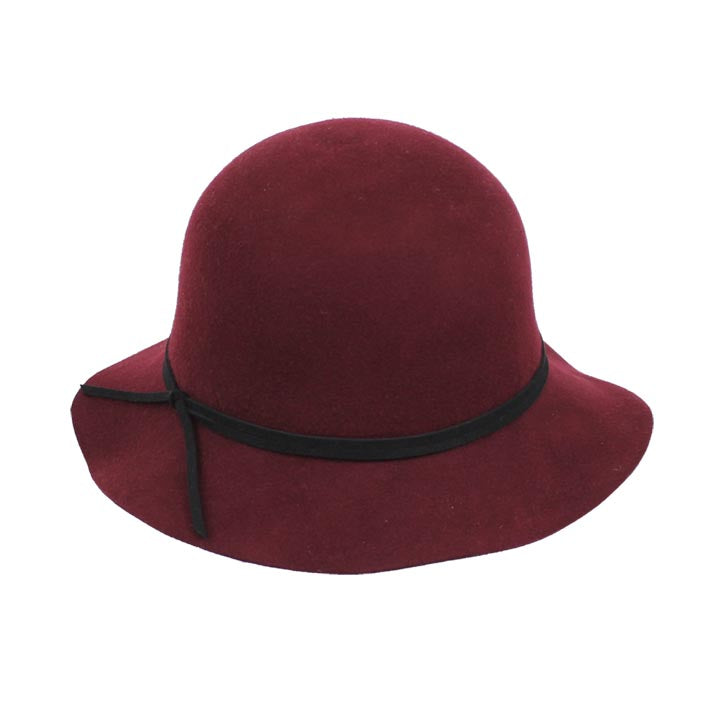 Jendi Wool Felt Hat in Shiraz with Black Ribbon
