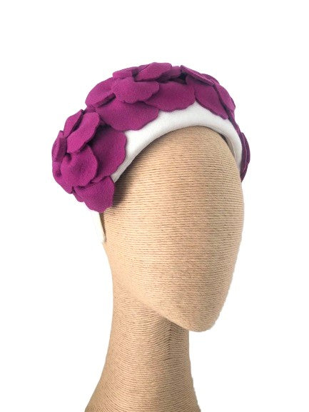 Max Alexander Rosetta Felt Headpiece in various colours
