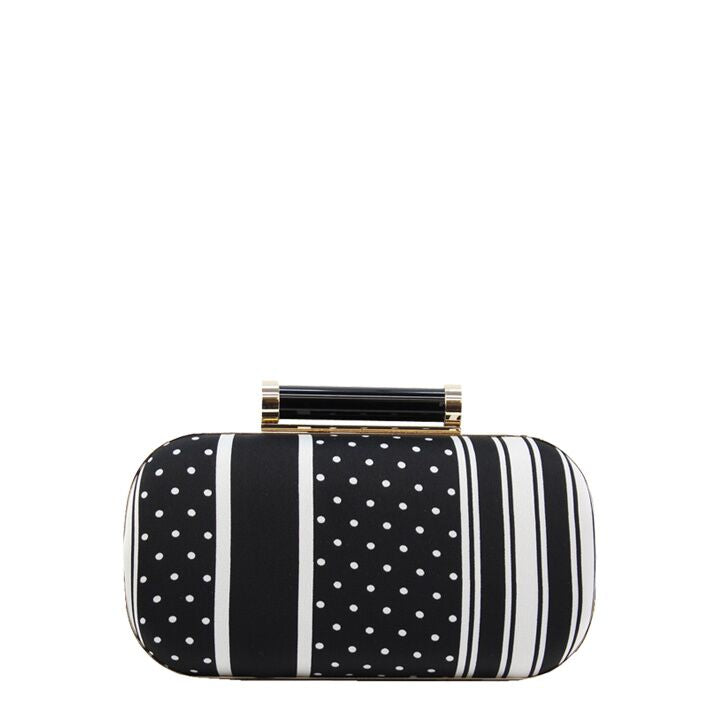 Jendi Lilliana Clutch in Black & White