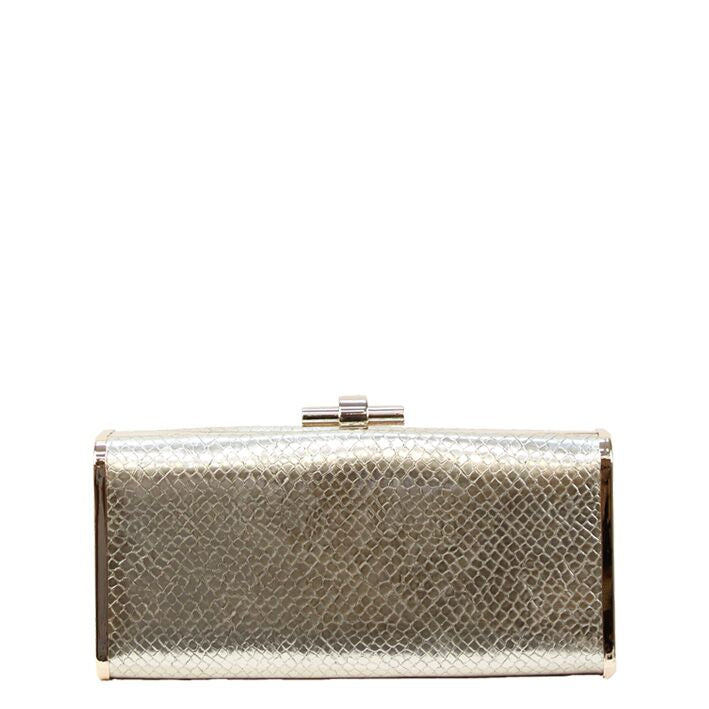 Jendi Kenia Clutch in Gold, Rose Gold or Silver