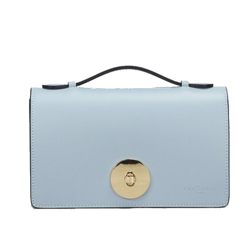FredericT Amelia Small Leather Handbag in Light Blue