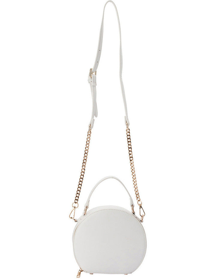 Olga Berg Maria Top Handle Bag in White