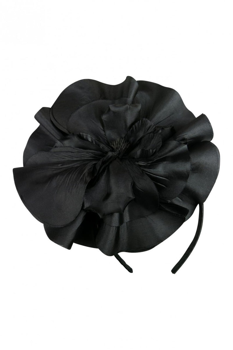 Morgan & Taylor Chantelle Flower Fascinator in Black