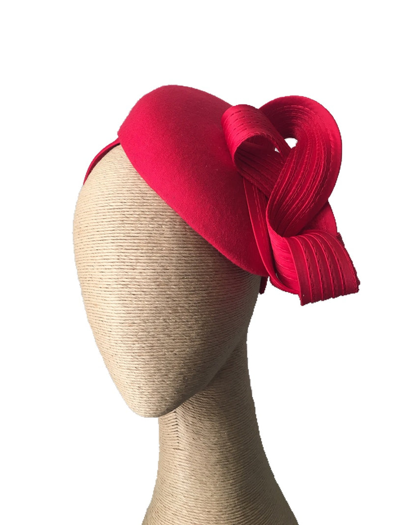 The Fillies Collection Miranda Felt Hat with Loops in Red