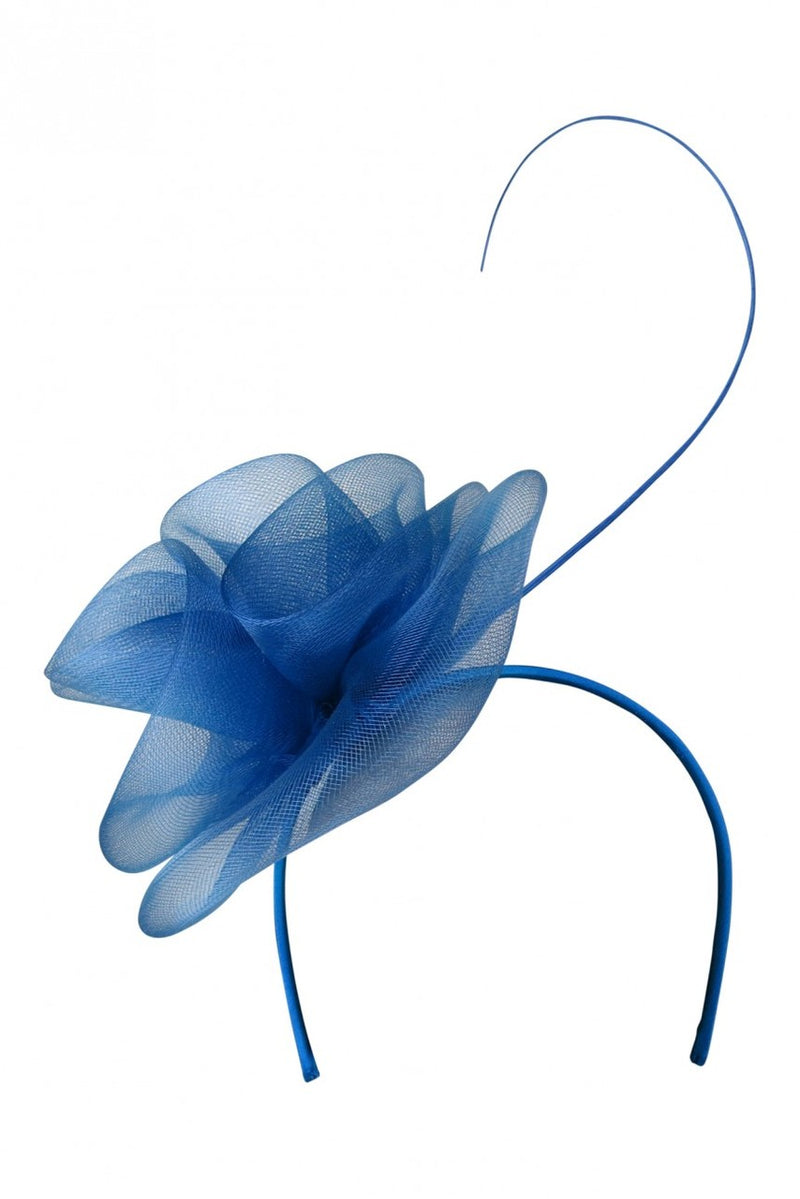 Morgan and Taylor Evonne Crinoline Fascinator in Royal Blue