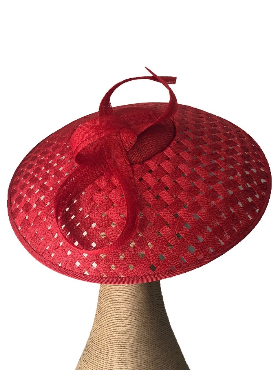 Fiona Powell Audrey Hat in Red on a Headband