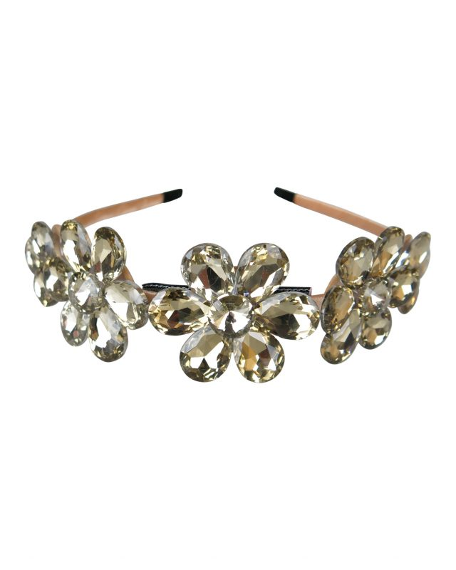 Morgan & Taylor Kya Crystal Daisy Headpiece in Gold