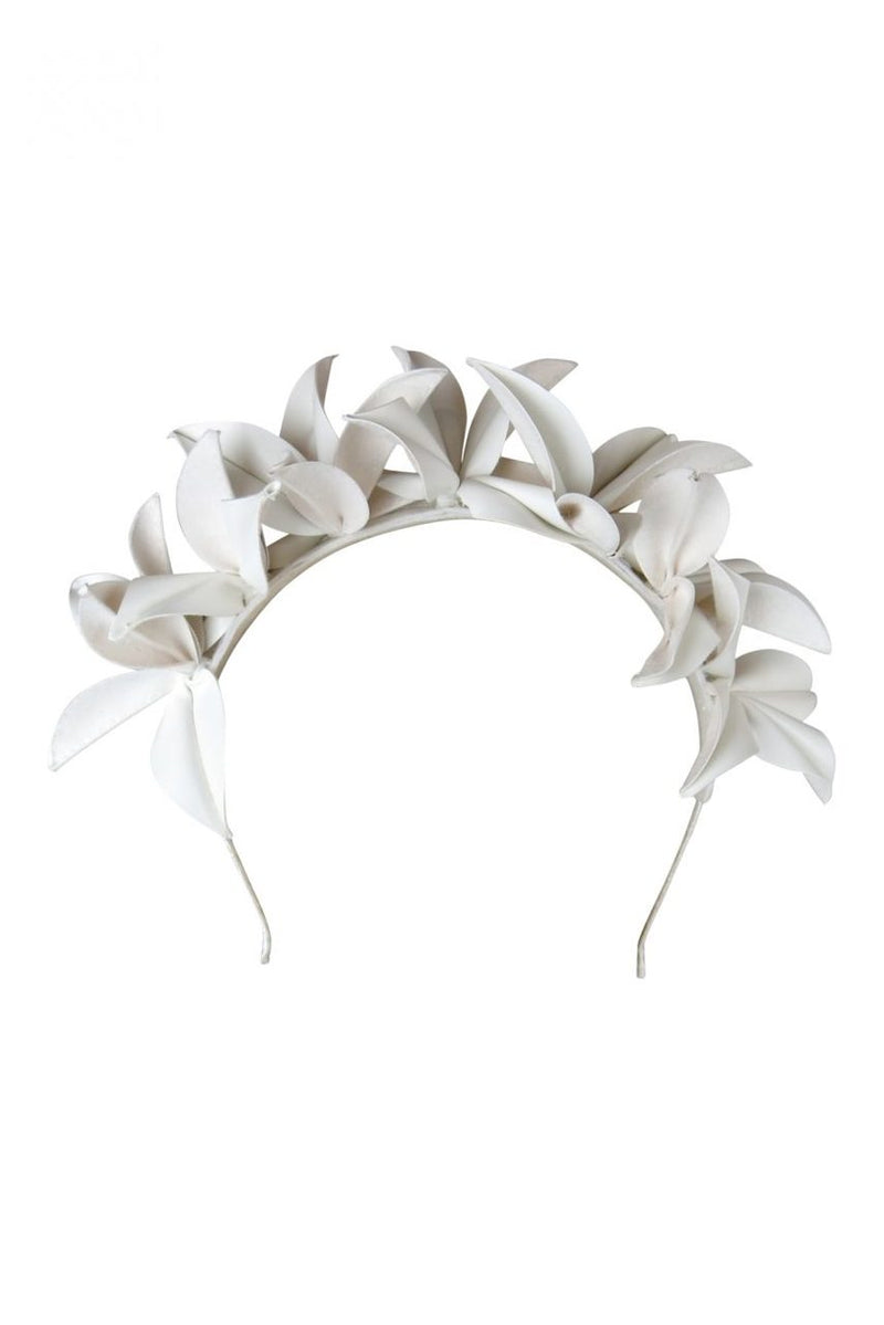 Morgan & Taylor Laura White PU Flower  Headpiece