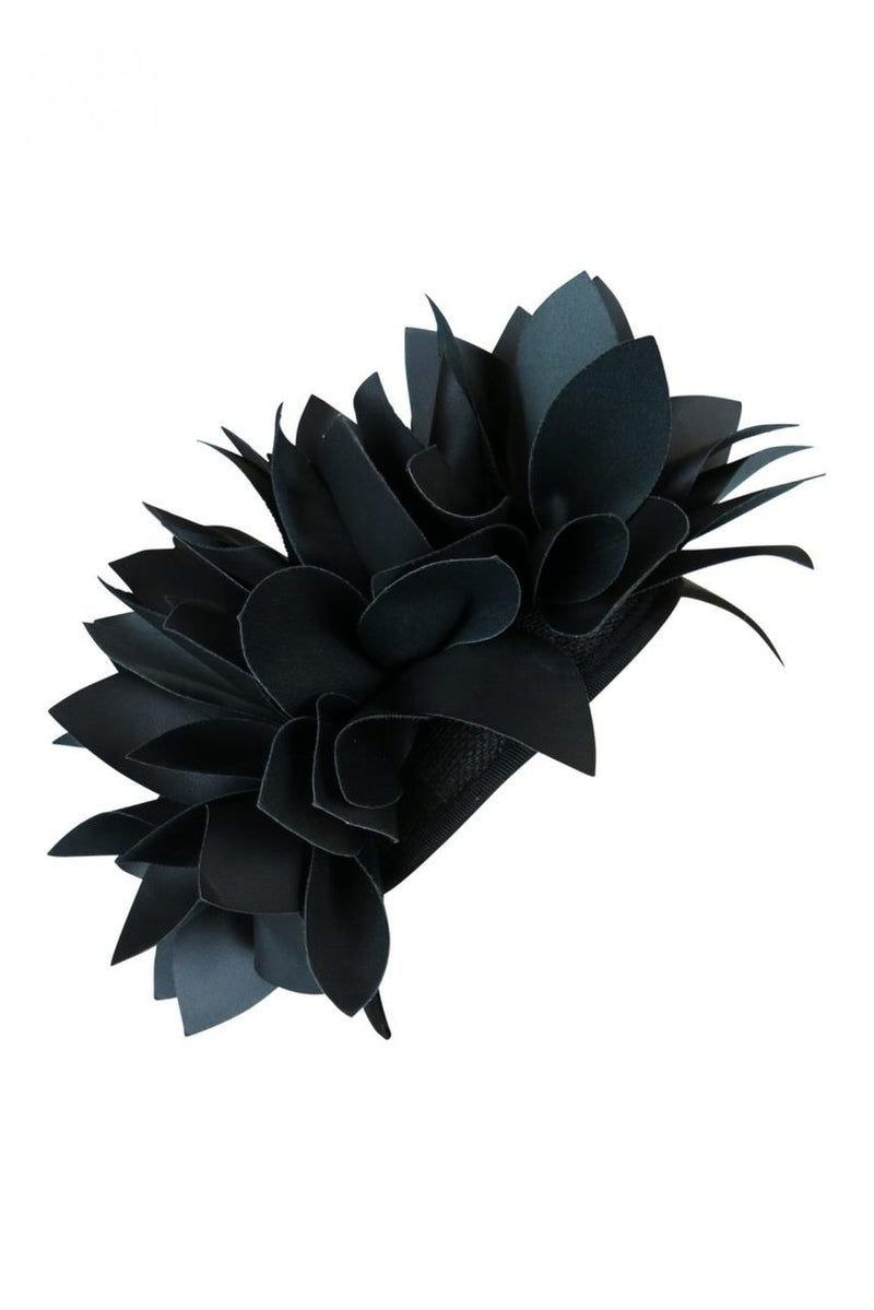 Morgan & Taylor Courtney Faux Leather Fascinator in Black