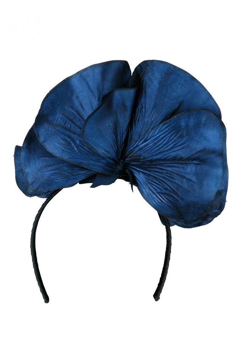 Morgan & Taylor Chantelle Flower Fascinator in Navy
