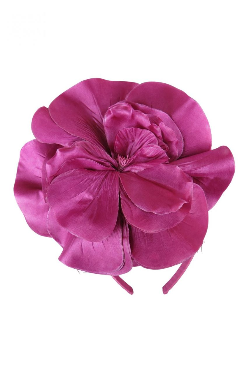 Morgan & Taylor Chantelle Flower Fascinator in Orchid