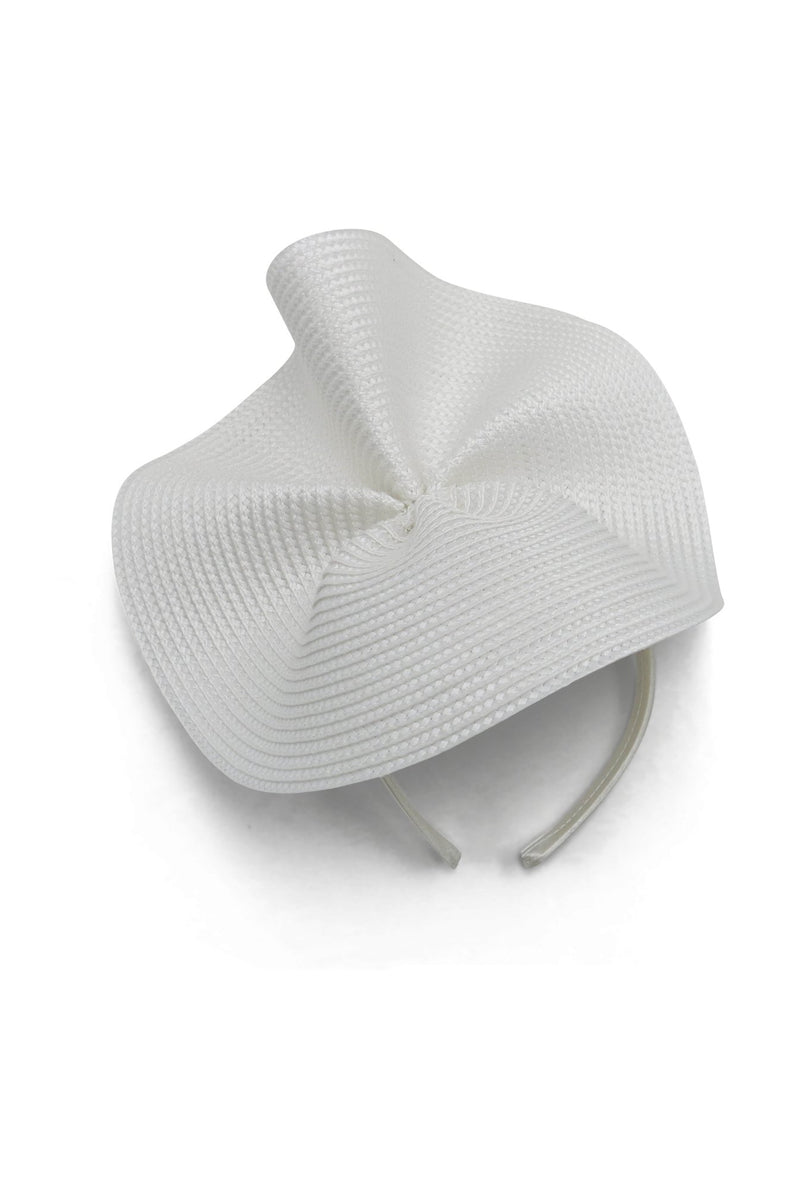 Morgan & Taylor Zaria Wave Plate Headpiece in White