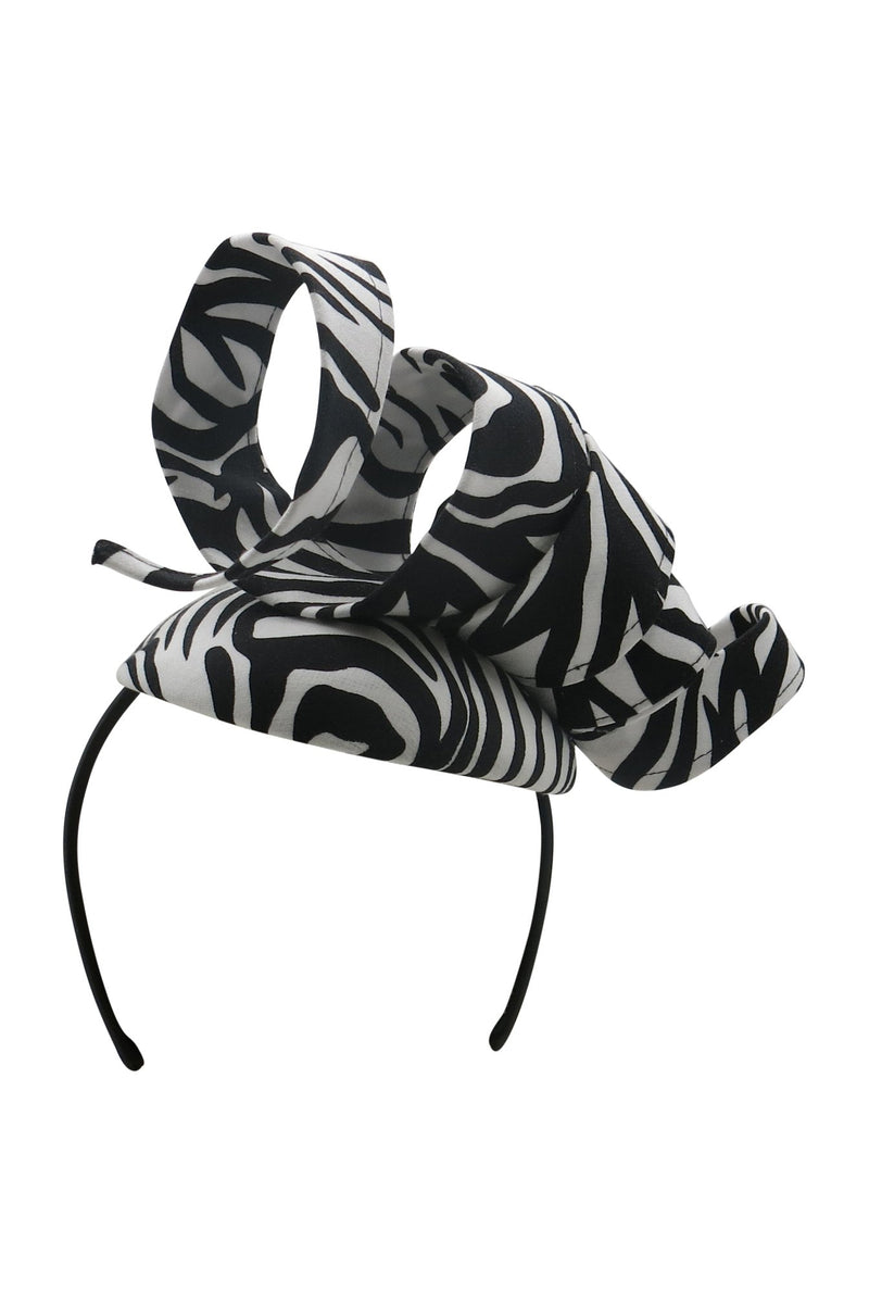 Morgan & Taylor Kamari Zebra Beret in Black & White