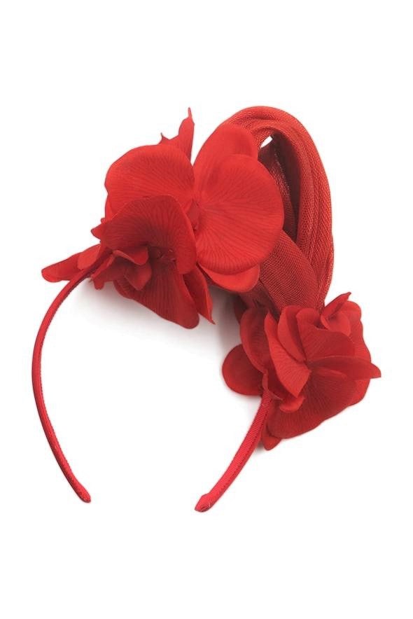 Morgan & Taylor Teegan Fascinator in Red