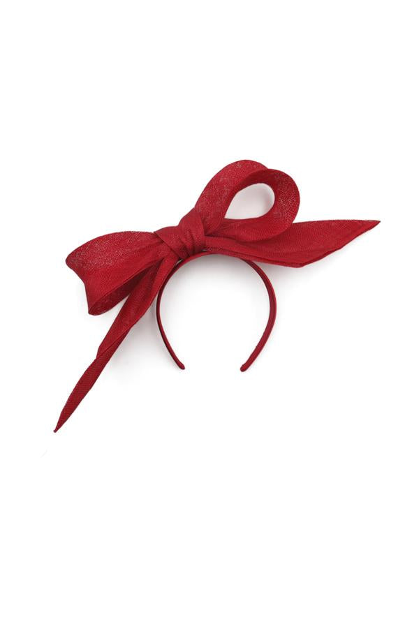 Morgan & Taylor Tamia Bow Fascinator in Red