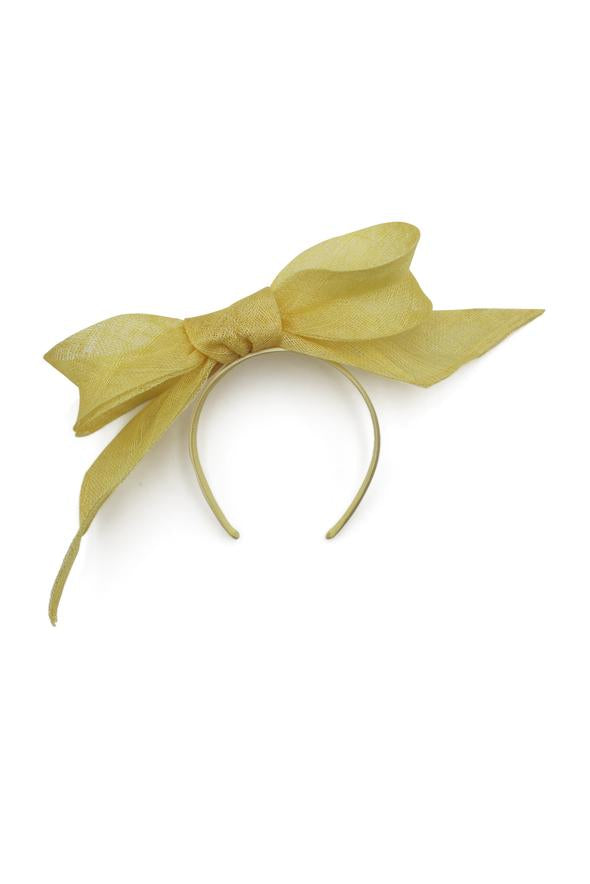 Morgan & Taylor Tamia Bow Fascinator in Yellow