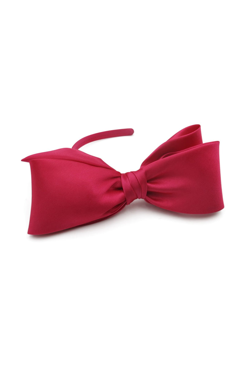 Morgan & Taylor Vada Bow Fascinator in Hot Pink