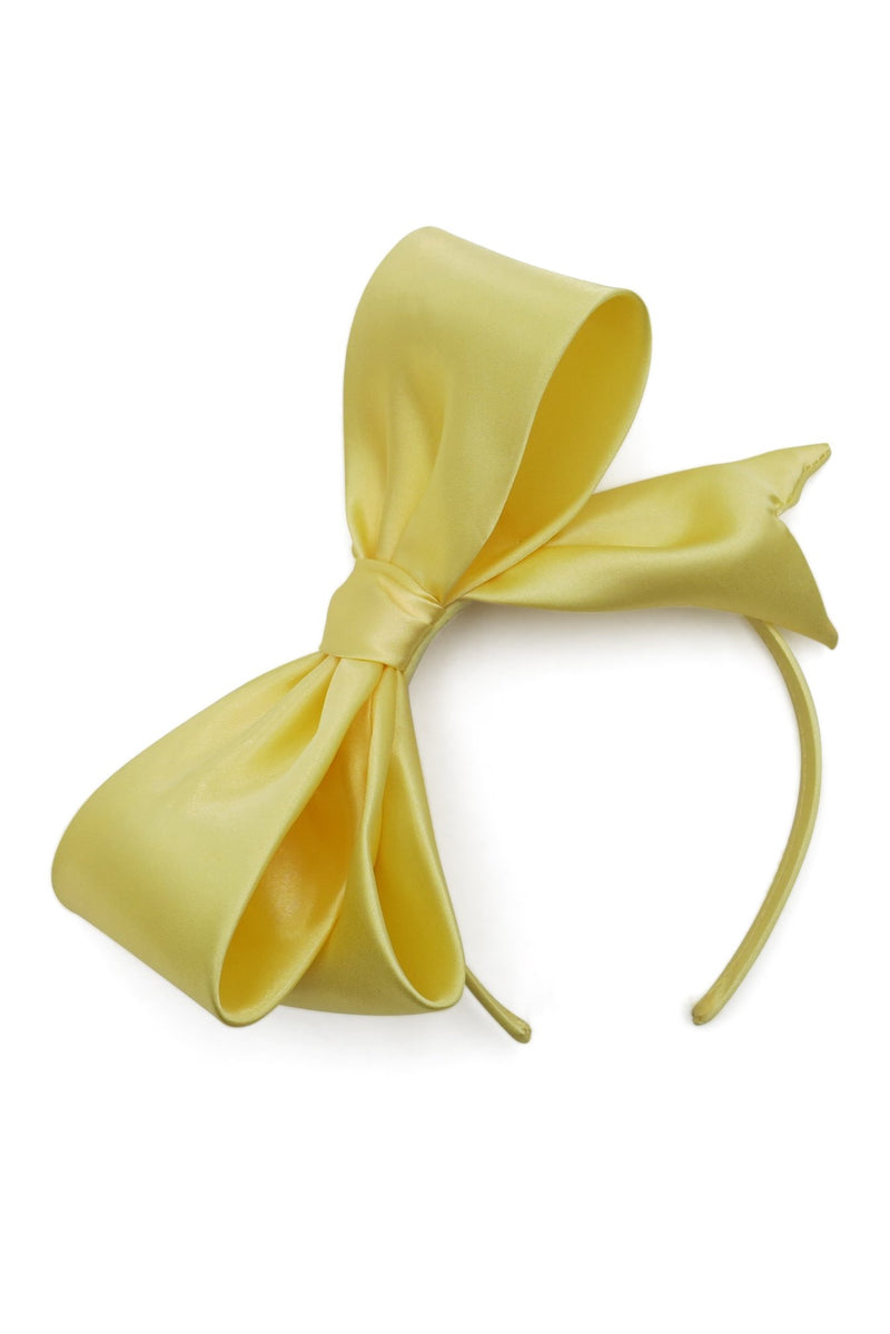 Morgan & Taylor Vada Bow Fascinator in Yellow