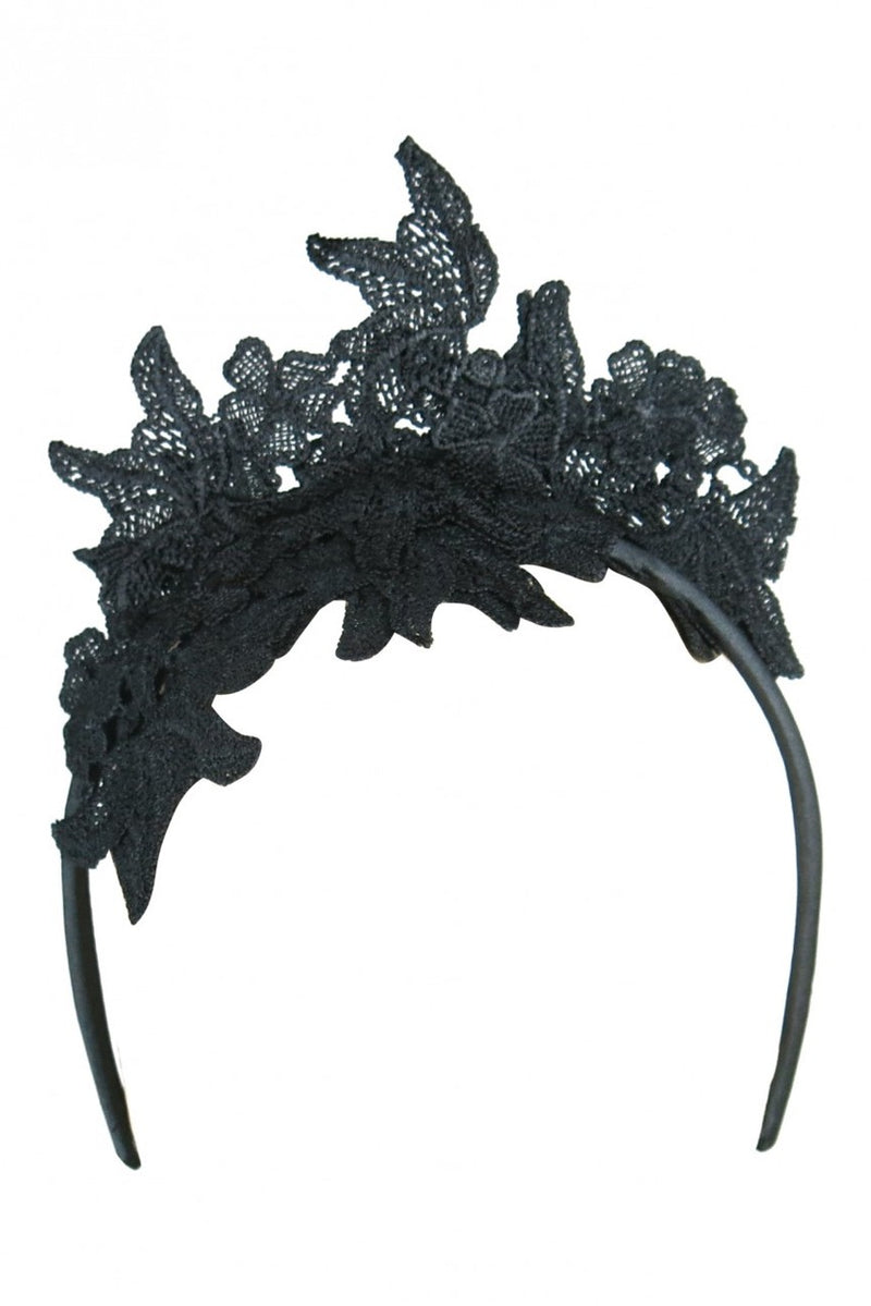 Morgan & Taylor Sassi Lace Fascinator in Black