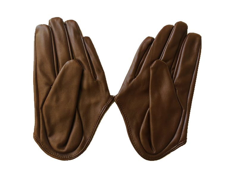 Get Racy Half Palm Gloves in Brown