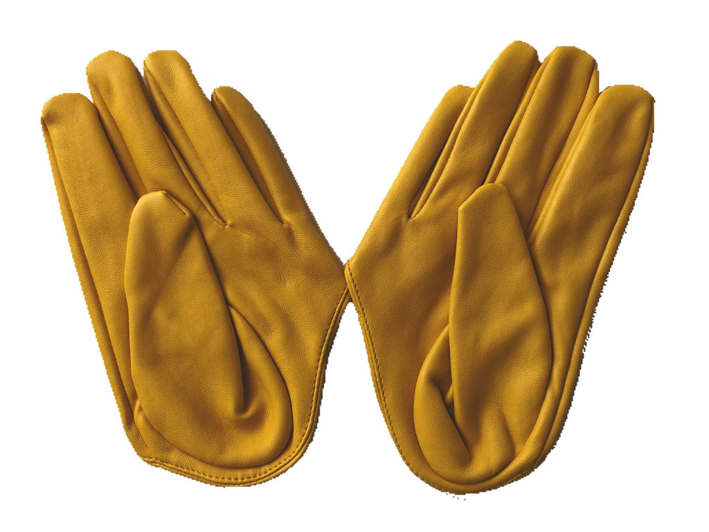 Get Racy Half Palm Gloves in Yellow