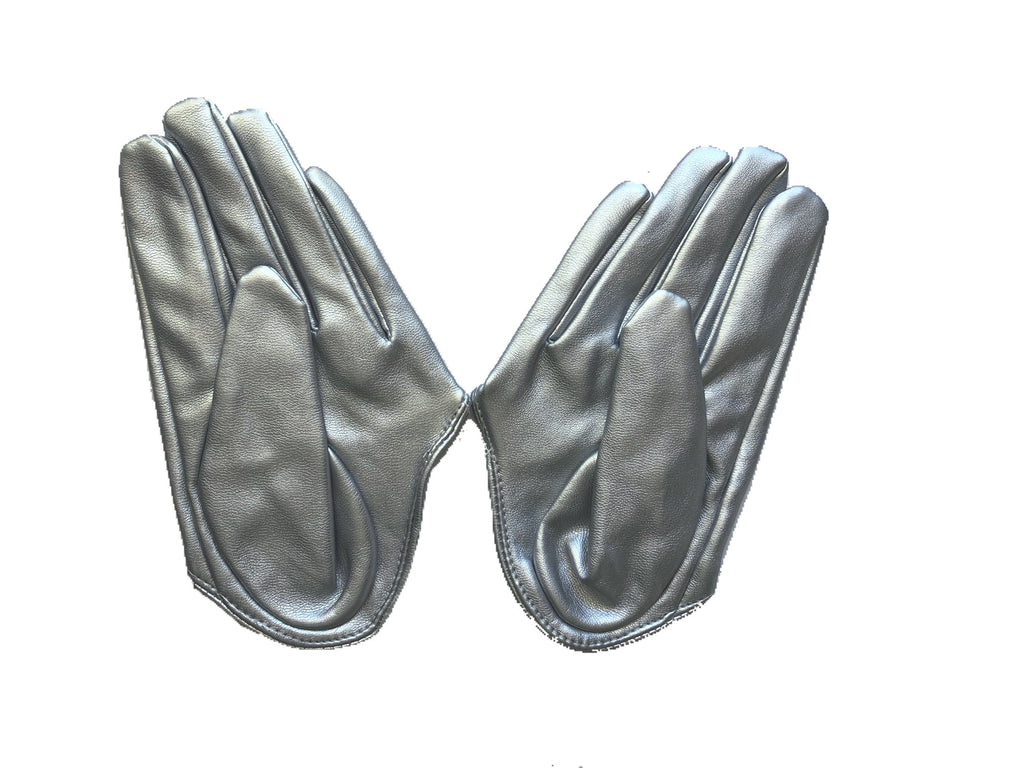 Get Racy Half Palm Gloves in Silver Matt