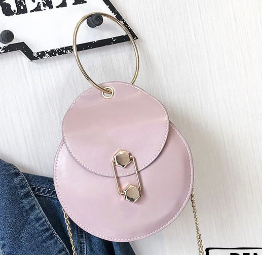 Get Racy Ring Handle Circle Bag in Pink