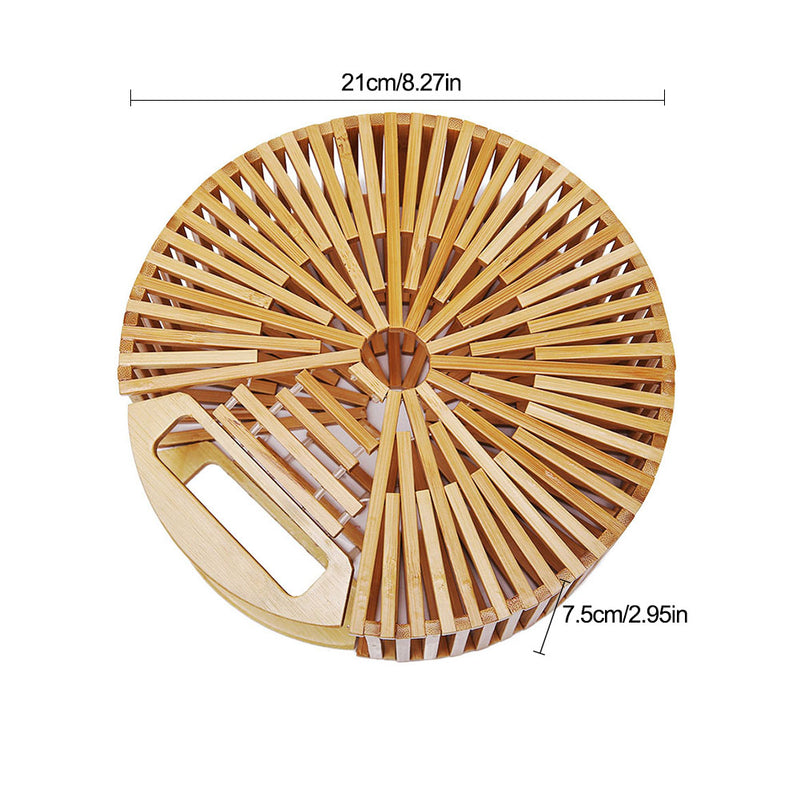 Get Racy Bamboo Small Round Bag in Natural