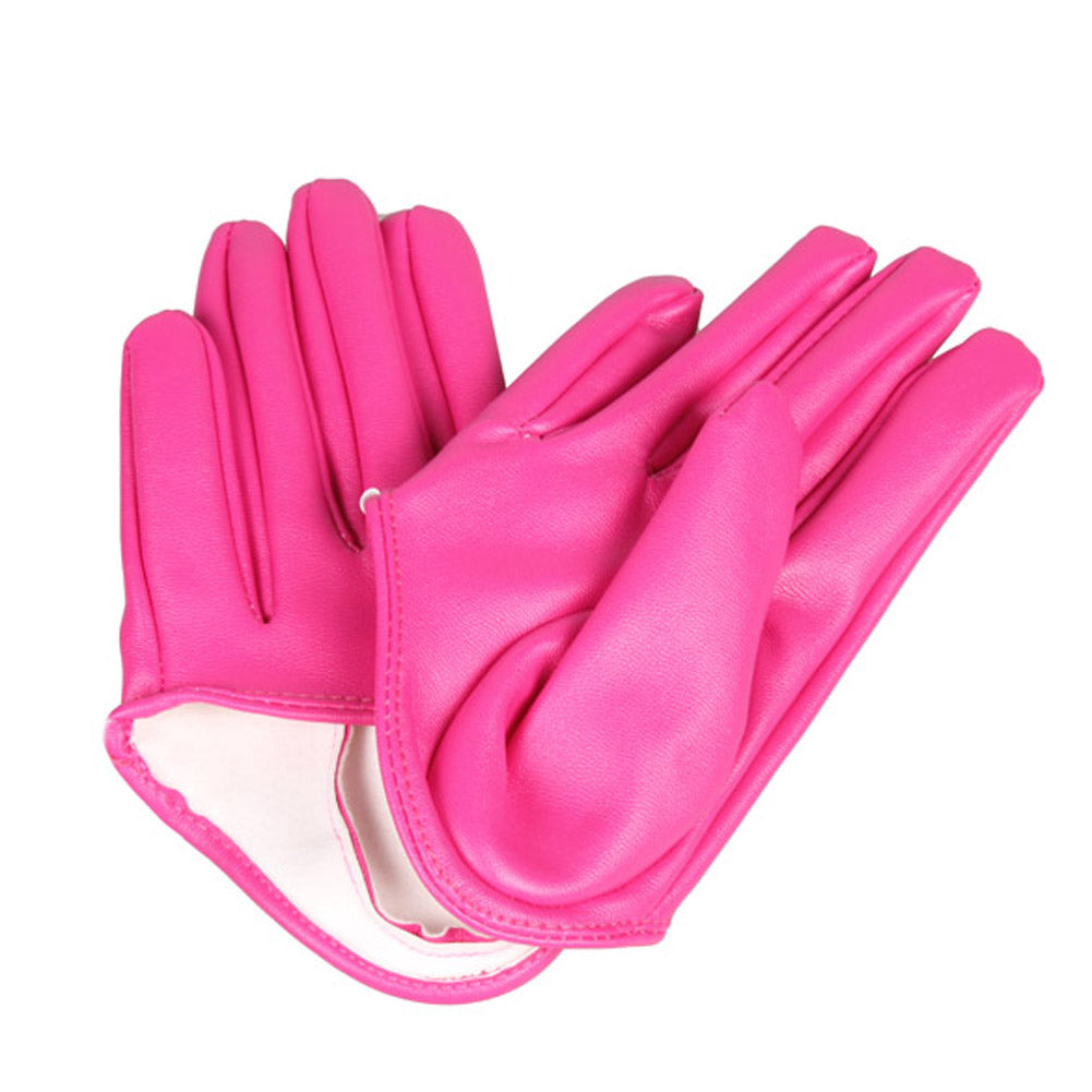 Get Racy Half Palm Gloves in Fuchsia