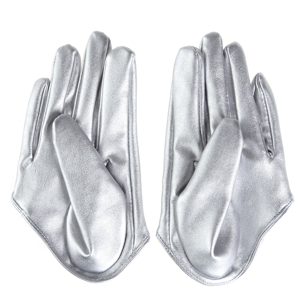Get Racy Half Palm Gloves in Silver