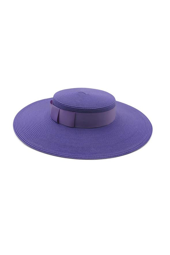 Morgan & Taylor Macy Boater Hat in Purple