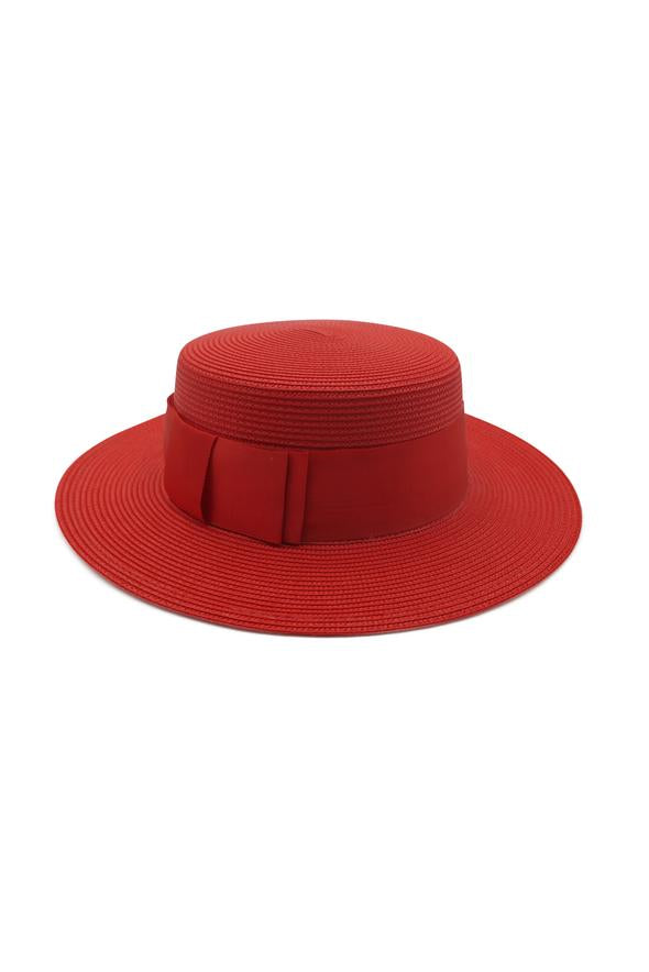 Morgan & Taylor Berkley Boater Hat in Red