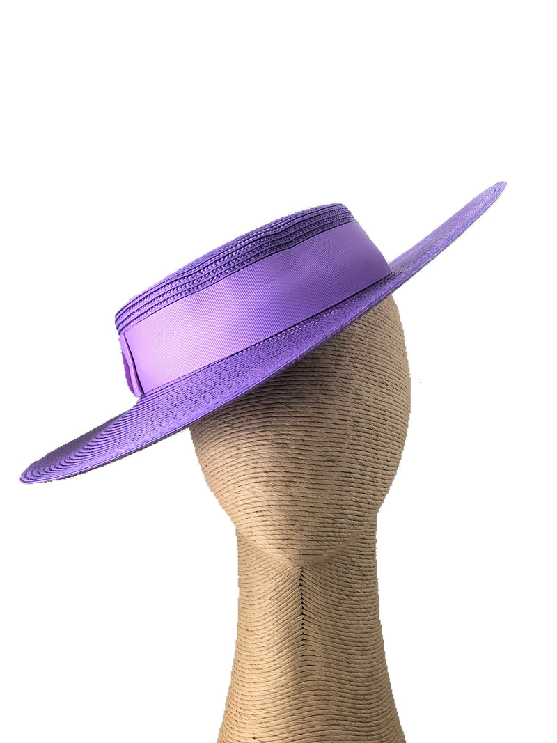 Morgan & Taylor Amora Boater Hat in Purple