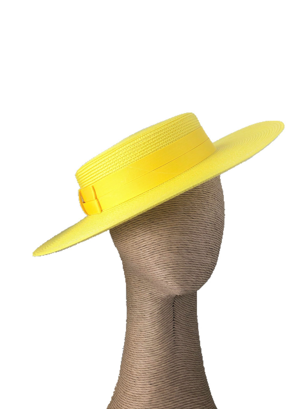Morgan & Taylor Amora Boater Hat in Yellow