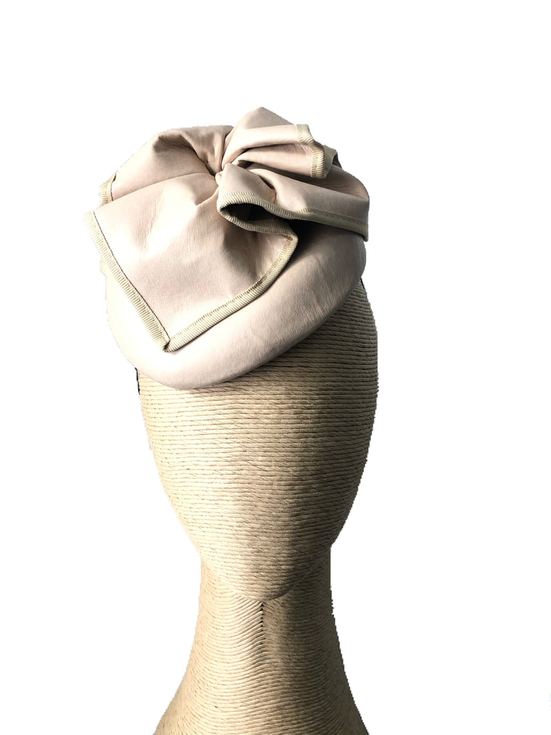 Max Alexander Florence Leather Hat in Nude